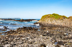 Felsige Küste von Nordirland, Großbritannien Lizenzfreie Stockfotografie