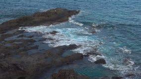 Felsige Küste von Teneriffa stock video footage
