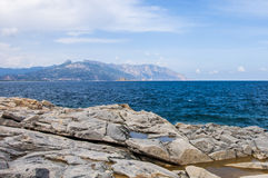 Felsige Küstenarchipel sardegna Sardinien-Insel Italien lizenzfreies stockfoto