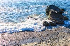 Felsige Küstenlinie Lizenzfreies Stockfoto