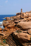 Felsige Küsteperspektive Stockfotos