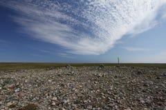 Felsige Landschaft nördlich Arviat, Nunavut Lizenzfreie Stockbilder
