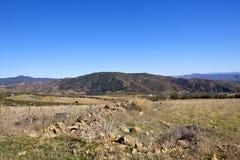 Felsige Landschaft von Andalusien in Süd-Spanien Lizenzfreies Stockbild