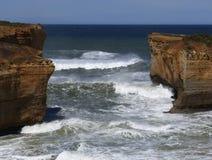 Felsige Ozeanküste stockfotos