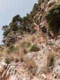 Felsiger Berg stockfoto