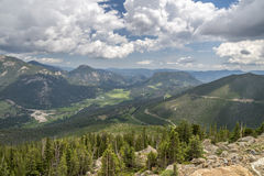 Felsiger Bergabhang in Rocky Mountain National Park Stockfoto