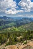 Felsiger Bergabhang in Rocky Mountain National Park Stockbild