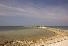 Felsiger kroatischer Strand Stockfoto