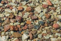 Felsiger Meeresboden durch transparentes Wasser Lizenzfreie Stockfotografie