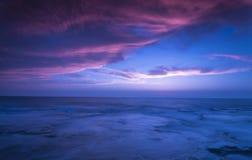 Felsiger Sonnenuntergang Lizenzfreies Stockbild
