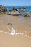 Felsiger Strand Lizenzfreies Stockbild