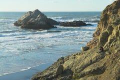 Felsiger Strand Stockfoto