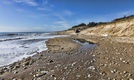 Felsiger Strand stockbild