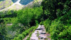Felsiger Weg des Gebirgssees stockfoto