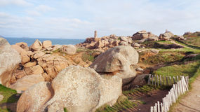 Felsiges Küstenufer Stockfoto