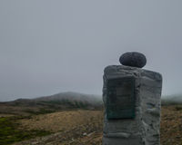 Felsiges Monument in Nord-Island lizenzfreie stockfotografie