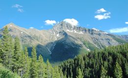 Felsiges mountian und Wälder Lizenzfreie Stockbilder