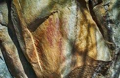 Felsmalereien, Hhenga-Berge, Swasiland Stockbilder