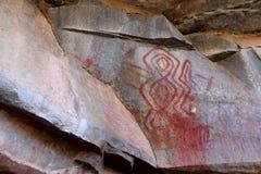 Felsmalereien und Höhlenmalerei im Caatinga von Brasilien Stockfotos
