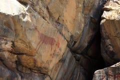 Felsmalereien und Höhlenmalerei im Caatinga von Brasilien Lizenzfreie Stockfotos