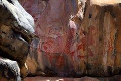 Felsmalereien und Höhlenmalerei im Caatinga von Brasilien Lizenzfreies Stockfoto
