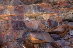 Felsmalereien und Höhlenmalerei im Caatinga von Brasilien Lizenzfreies Stockbild