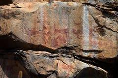 Felsmalereien und Höhlenmalerei im Caatinga von Brasilien Lizenzfreie Stockfotografie