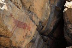 Felsmalereien und Höhlenmalerei im Caatinga von Brasilien Lizenzfreie Stockbilder