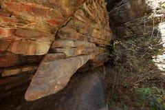 Felsmalereien und Höhlenmalerei im Caatinga von Brasilien Stockbild