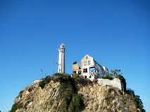 Felsnase auf Alcatraz-Insel Kalifornien, USA Lizenzfreie Stockfotografie