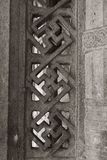 Felsritzungs-Fenster - großer Tempel Thanjavur lizenzfreies stockfoto
