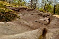 Felszeichnung in Valcamonica - Landschaft 1 Stockfotos