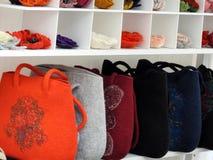 Felt bags for street sale Stock Image