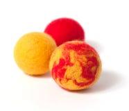 Felt balls Royalty Free Stock Images