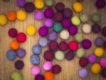 Felt Balls. Nice and colorful felt balls Stock Photo