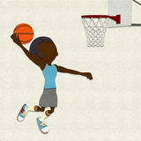Felt Basketball Player Dunking Royalty Free Stock Photography