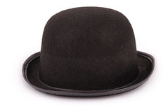 Felt black hat isolated on a white background (Clipping path) Royalty Free Stock Photography