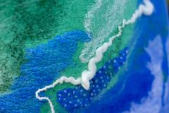 Felt blue green abstract background royalty free stock image