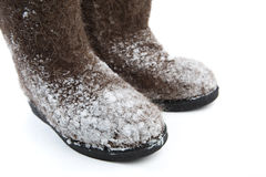 Felt boots with Stock Photos