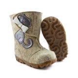 Felt boots Stock Images