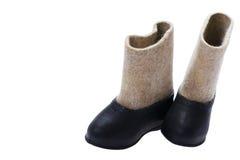 Felt boots close up Stock Photos