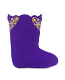 Felt boots with ornament Stock Photography