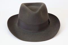 Felt bowler hat Borsalino. Elegance grey felt bowler hat model Borsalino Royalty Free Stock Photos