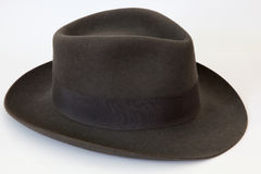 Felt bowler hat Borsalino. Elegance grey felt bowler hat model Borsalino Stock Photo