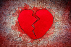 Felt broken heart Stock Image