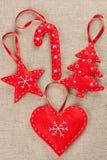 Felt Christmas decorations Royalty Free Stock Photos
