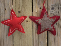 Felt Christmas Stars Royalty Free Stock Photos