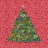 Felt Christmas tree Stock Images