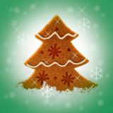 Felt Christmas Tree Stock Photography