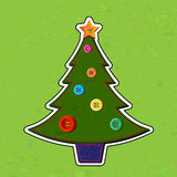 Felt Christmas tree Royalty Free Stock Image